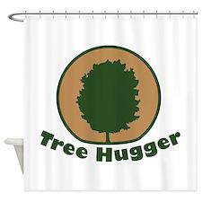 Arbor Day Maple Tree Hugger Shower Curtain
