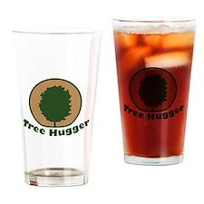 Arbor Day Maple Tree Hugger Drinking Glass