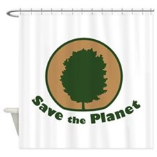 Arbor Day Maple Save the Planet Shower Curtain