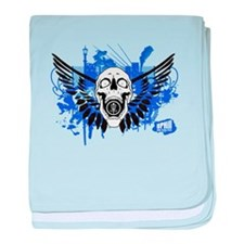 Flying Skull copy baby blanket