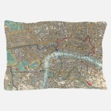 Vintage Map of London (1848) Pillow Case