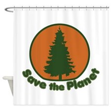 Save the Planet Shower Curtain