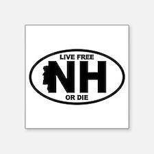 """Cute New hampshire car Square Sticker 3"""" x 3"""""""
