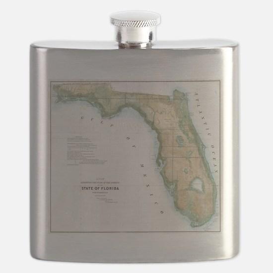 Vintage Map of Florida (1848) Flask