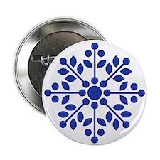 Rose Spray Blue Button