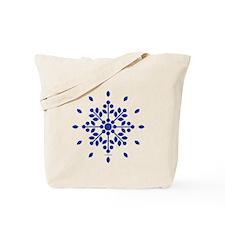 Rose Spray Blue Tote Bag