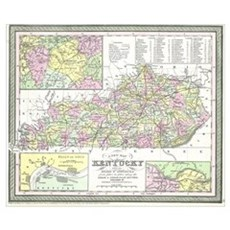 Vintage Map of Kentucky (1850) Poster