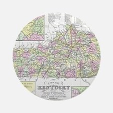Vintage Map of Kentucky (1850) Round Ornament