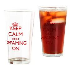 Defaming Drinking Glass