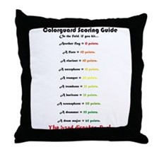 Scoring Guide Throw Pillow