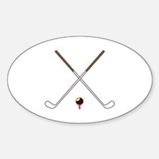 Crossed Golf Clubs Decal