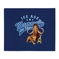 Ice Age Mammals All Stars Throw Blanket