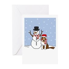 Collie Howling Holiday Greeting Cards (Pk of 10)