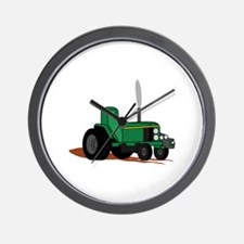 Pulling Tractor Wall Clock
