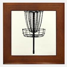 Cute Disc golf Framed Tile