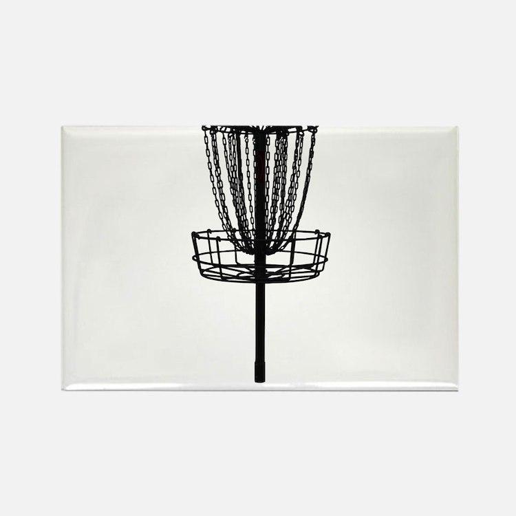 Cute Disc golf basket Rectangle Magnet
