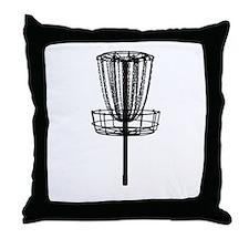 Cute Disc golf basket Throw Pillow