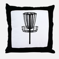 Cute Disc golf Throw Pillow