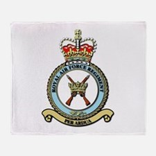 Royal Air Force Regt wOut Text Throw Blanket