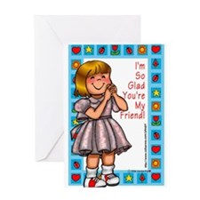 So Glad You're my Friend Blank Greeting Card