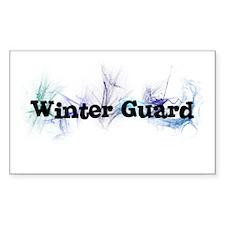 Winter Guard Rectangle Decal