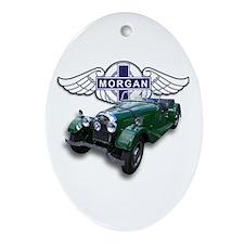 Green British Morgan Oval Ornament
