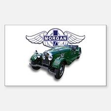 Green British Morgan Rectangle Decal