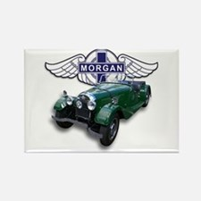 Green British Morgan Rectangle Magnet