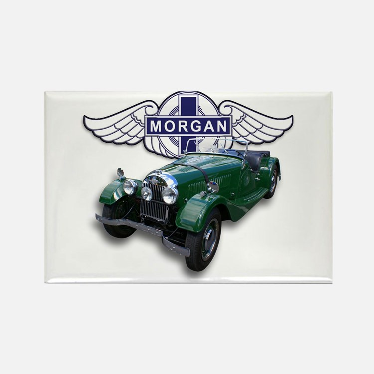 Green British Morgan Rectangle Magnet
