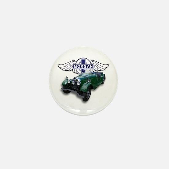Green British Morgan Mini Button