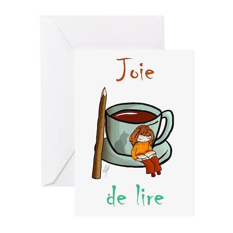 """Joie de Lire (2)"" Greeting Cards (Pk of"