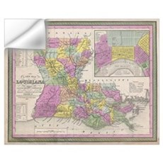Vintage Map of Louisiana (1853) Wall Decal
