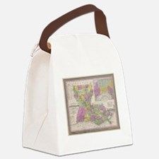 Vintage Map of Louisiana (1853) Canvas Lunch Bag