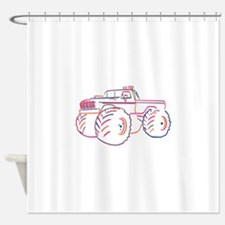 Off Road Pickup Shower Curtain