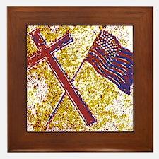 God and Country Framed Tile