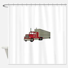 Semi Truck Shower Curtain