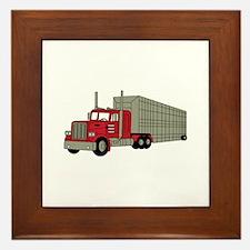 Semi Truck Framed Tile