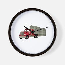 Semi Truck Wall Clock