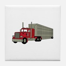 Semi Truck Tile Coaster