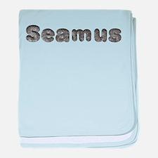Seamus Wolf baby blanket