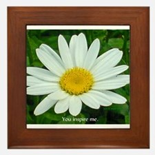 You inspire me. Framed Tile