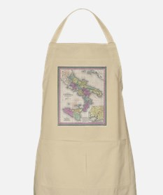 Vintage Map of Southern Italy (1853) Apron
