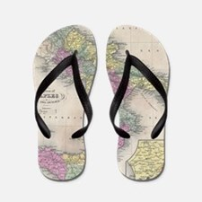 Vintage Map of Southern Italy (1853) Flip Flops