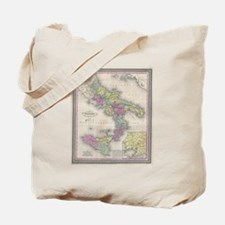 Vintage Map of Southern Italy (1853) Tote Bag