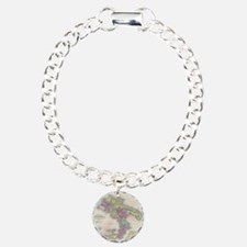 Vintage Map of Southern  Charm Bracelet, One Charm