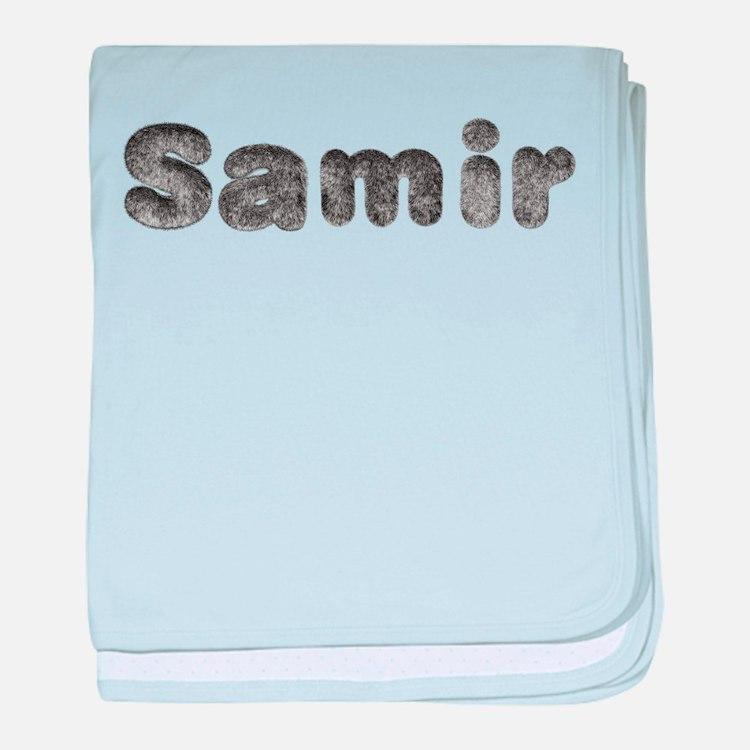 Samir Wolf baby blanket