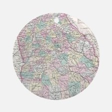 Vintage Map of Georgia (1855) Round Ornament