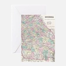 Vintage Map of Georgia (1855) Greeting Card
