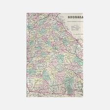 Vintage Map of Georgia (1855) Rectangle Magnet