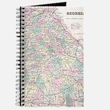 Vintage Map of Georgia (1855) Journal